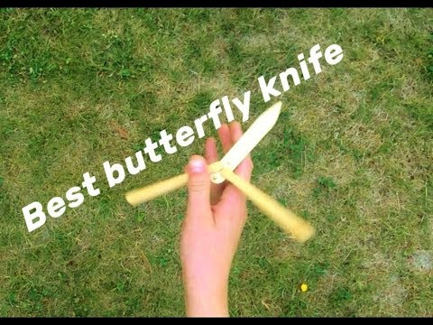How to make best popsicle stick butterfly knife | Easy DIY