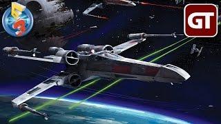 Thumbnail für Kostenlos für PS4! | STAR WARS: BATTLEFRONT - X-WING MISSION im E3-Trailer-Check