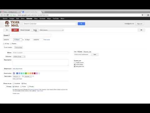 Google Calendar  - Edit, Reschedule, And Delete Events