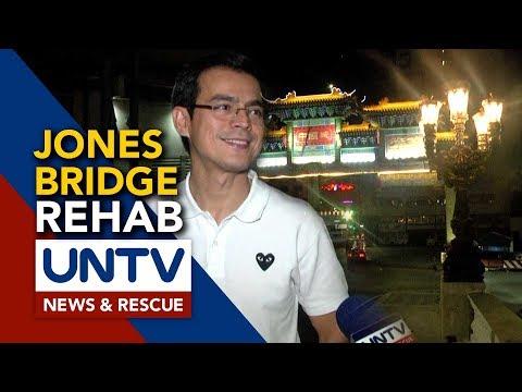 Ongoing rehabilitation ng Jones Bridge sa Maynila, binisita ni Mayor Isko