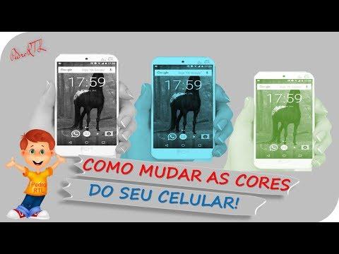▶Como alterar as cores do seu celular! Os aplicativos ficam com cores diferentes!