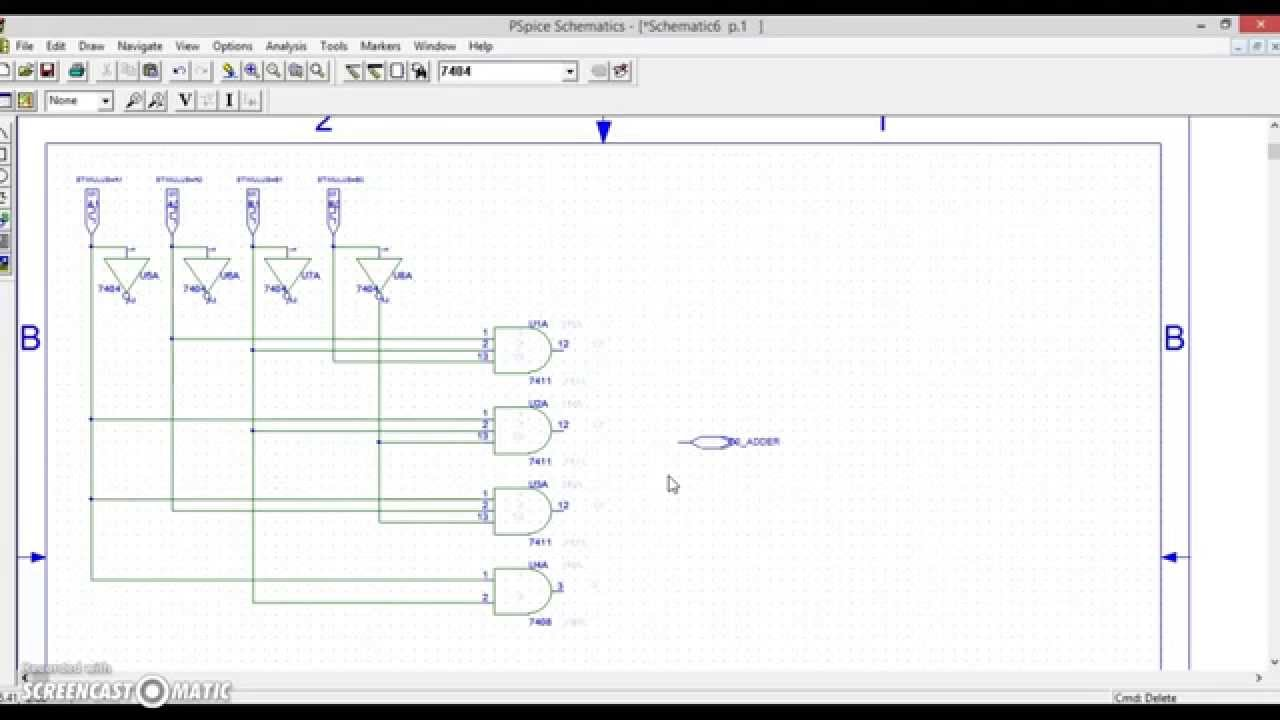 1 Bit Adder Circuit Wiring Diagram For Professional The Full Simulation On Pspice Youtube Explained