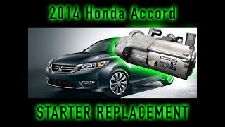 Starter for Honda Car Accord Sport 2.4L Automatic CVT 2013-2017 CR-V 2015-2016