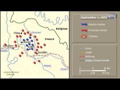 Battle Of Sedan Animation On A Map Youtube