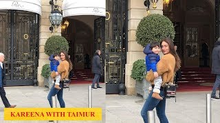 Cuteness alert! Kareena Kapoor Khan strikes a pose with little Taimur in Paris