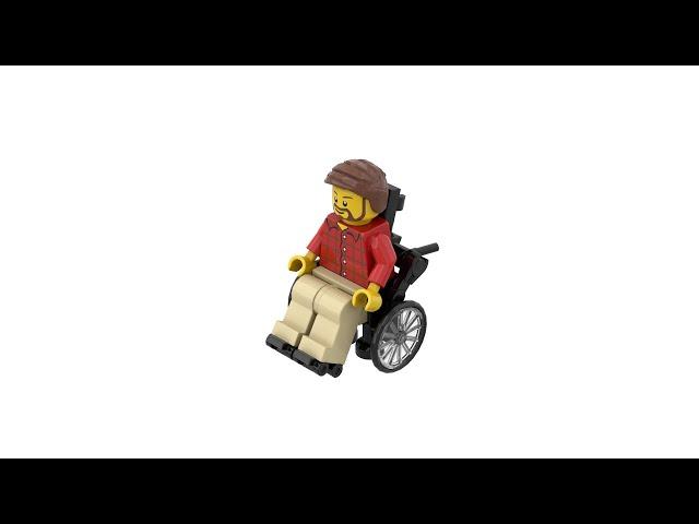 LEGO® Custom Wheelchair with Instructions