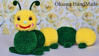 Игрушка из плюшевой пряжи. Мастер класс и схема. Crochet toy