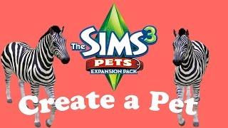 The Sims 3 Pets: Create a Pet - Zebra
