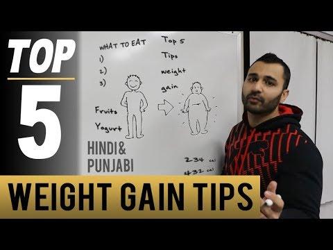5 Best TIPS to Gain Weight in GYM! (Hindi / Punjabi)