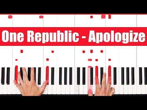 Apologize One Republic Piano Tutorial - VOCAL