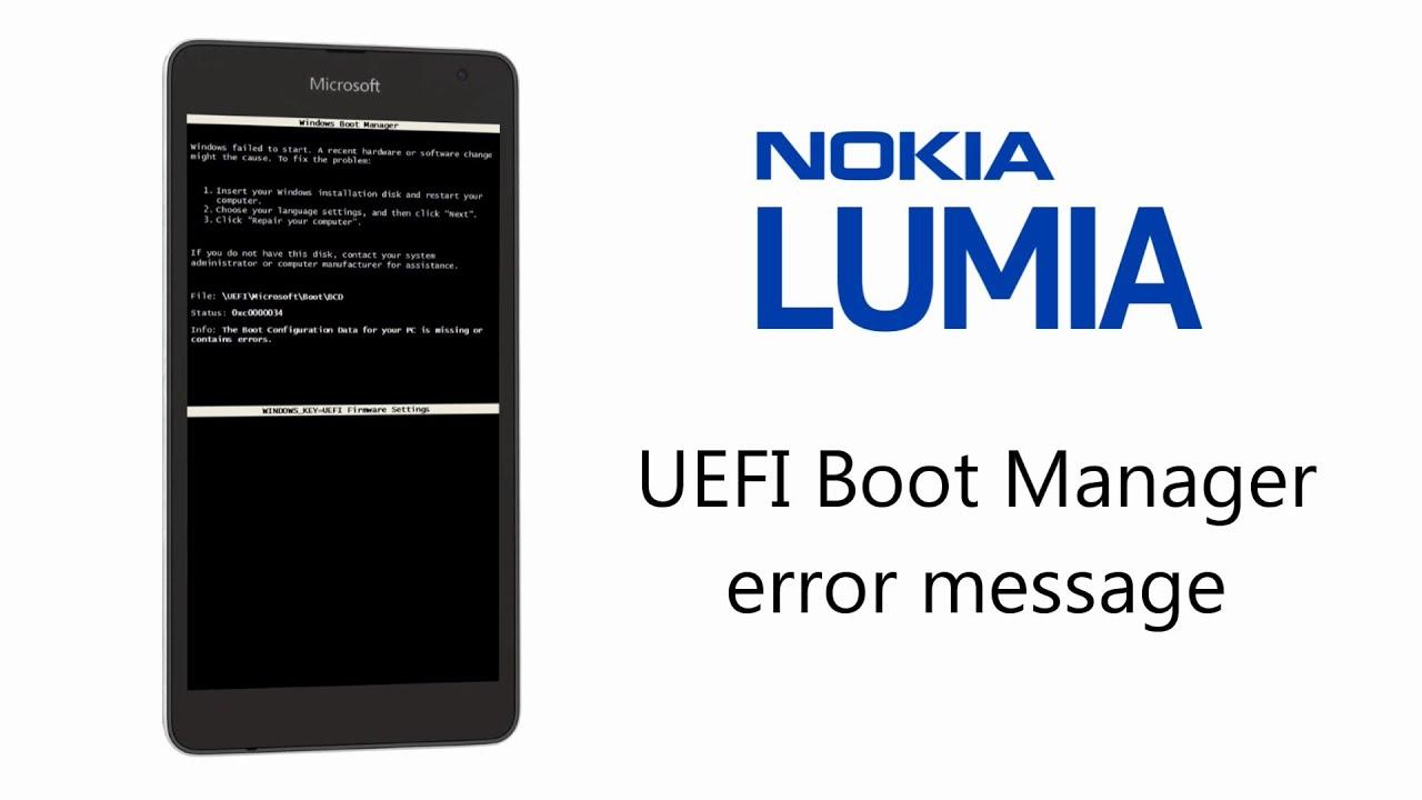 Success Microsoft Nokia Lumia Boot Manager Error Solution