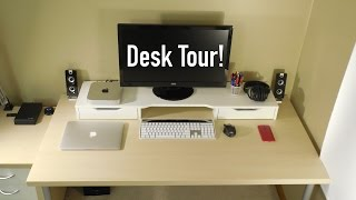 college desk setup