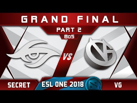 Secret vs VG Grand Final ESL One Hamburg 2018 Highlights Dota 2 - [Part 2]