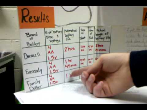Lee's Science Fair Project- Battery Life - YouTube
