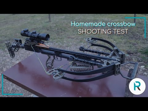 Homemade Crossbow | Quick view and Test | Powerful