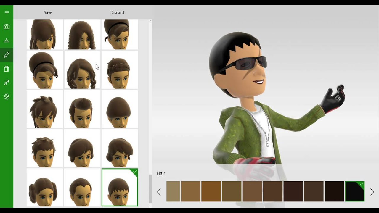 xbox avatars.its so hard to get a hair style - youtube