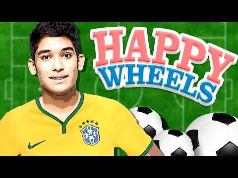 VIREI JOGADOR DE FUTEBOL !! -  HAPPY WHEELS