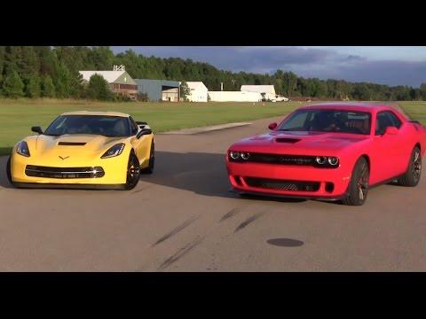 Dodge Challenger Hellcat Vs Chevy Corvette The Showdown