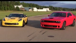 Dodge Challenger Hellcat vs Chevy Corvette: The Showdown
