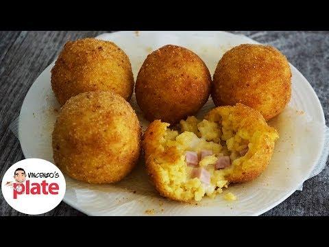ARANCINI HAM AND CHEESE   How To Make Sicilian Rice Balls Recipe   Arancini Recipe
