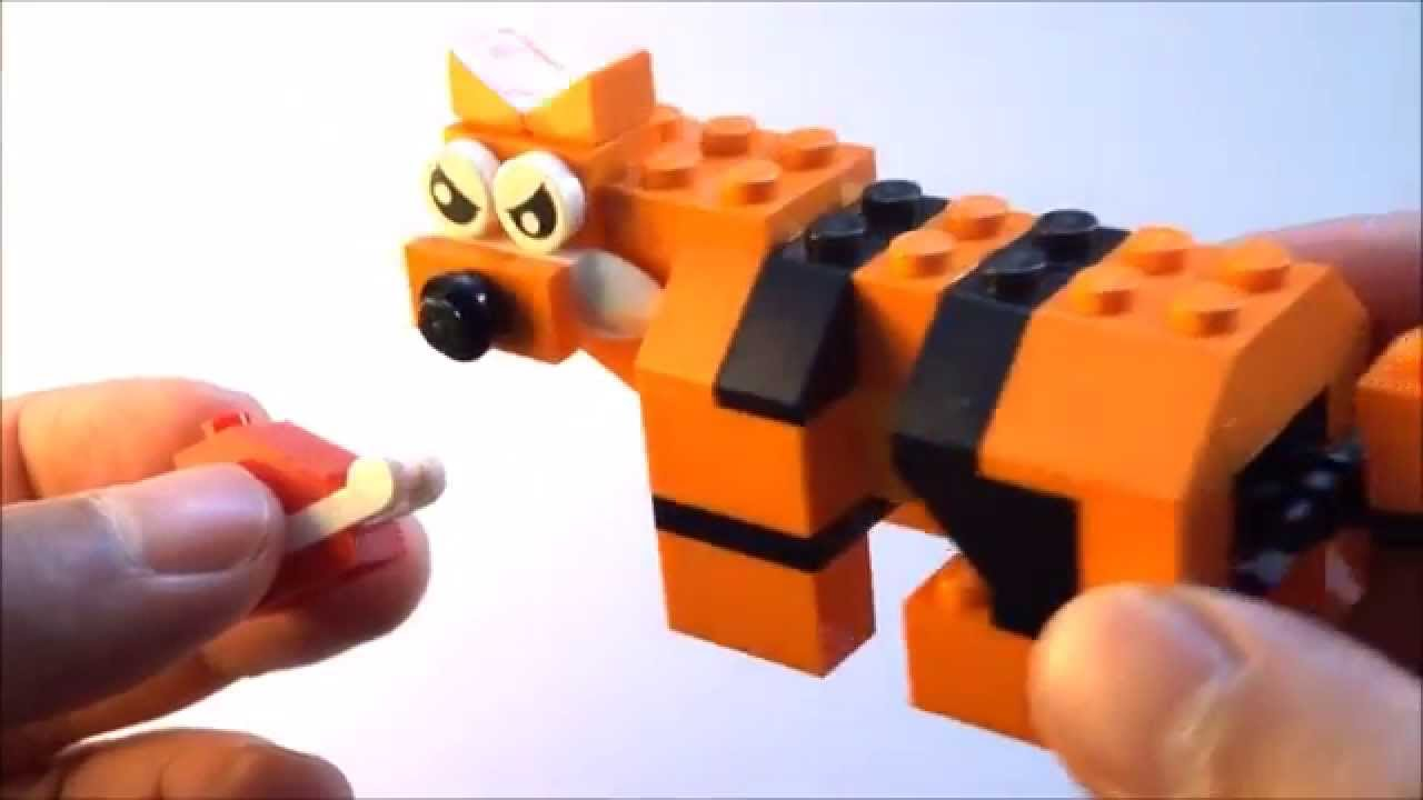 Step By Step How To Build A Lego Tiger Lego Classic 10696 2015
