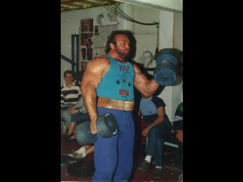 Bill Kazmaier World's Strongest Man At Daves Gym Northwich 1988 (with Jamie Reeves)