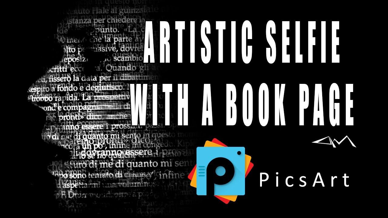 Picsart Book Cover Tutorial ~ Picsart editing tutorial how to create an artistic selfie