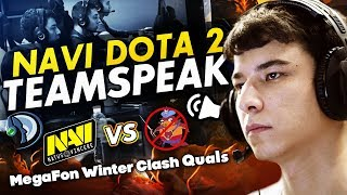 NAVI DOTA2 TEAMSPEAK vs NOPANGOLIER @ MegaFon Winter Clash Quals