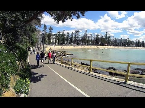 Virtual Treadmill Walk - Manly Beach to Shelly Beach and Corso, Sydney Australia