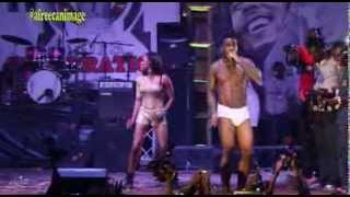 BURNA BOY PERFORED RUN MY RACE IN UNDERPANTS AT FELABRATION 2013
