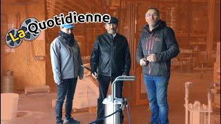 La quotidienne : Démonstration client BB6 aerogommage sur bois et métal