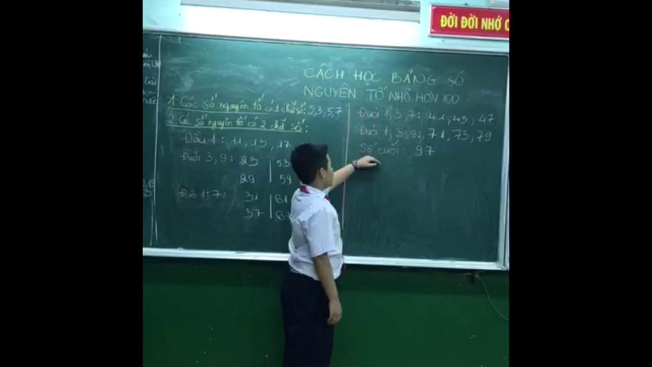 Cách học bảng số nguyên tố nhỏ hơn 100