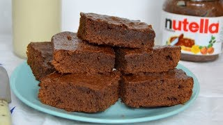 Brownie de Nutella ¡Con solo 3 ingredientes! Fácil y rápido