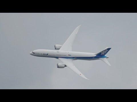 Boeing 787-9 Dreamliner ANA All Nippon Airways flying Display at Farnborough AirShow 2016