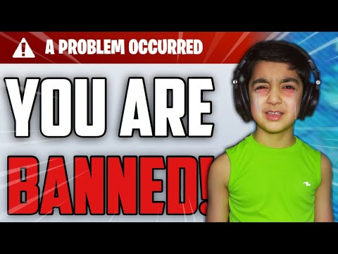 5 YEAR OLD LITTLE BROTHER GETS BANNED FROM FORTNITE FOREVER!   5 YEAR OLD RAGES WHEN HE GETS BANNED