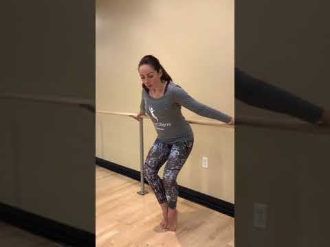 Barre tips by ChoreoBarre Fitness and Anna Gemma. Reverse Barre Chair position.