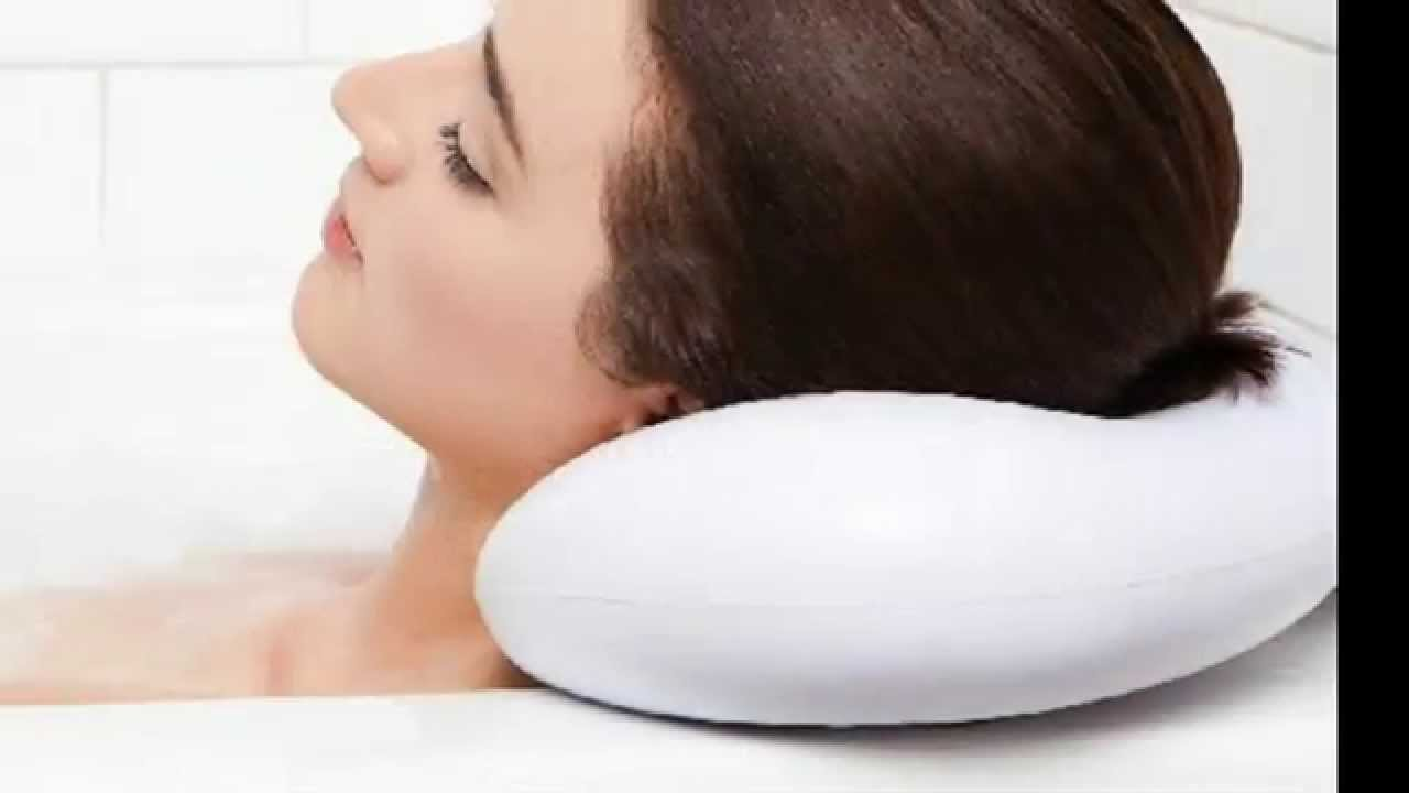 Bath Pillow - Luxury Spa Bath Pillow with Heavy Duty Suction Cups ...