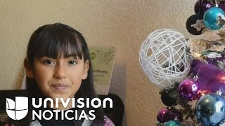 Una niña mexicana de ocho años inventó un cinturón guía para personas invidentes