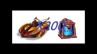 跑跑卡丁車300顆藍色幸運鐘中黃金遊俠9