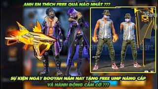 Free Fire| Sự kiện ngày Booyah 2021 tặng free hành động cắm cờ và skin UMP ngày booyah mới ? screenshot 5