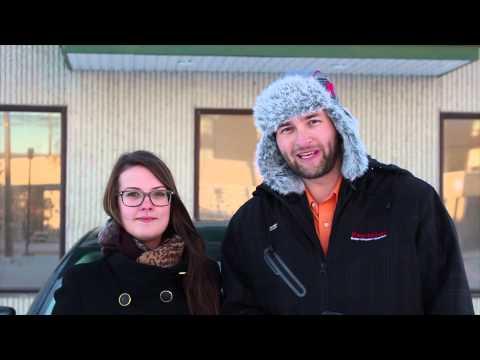 Winter tire test in Calgary, Alberta