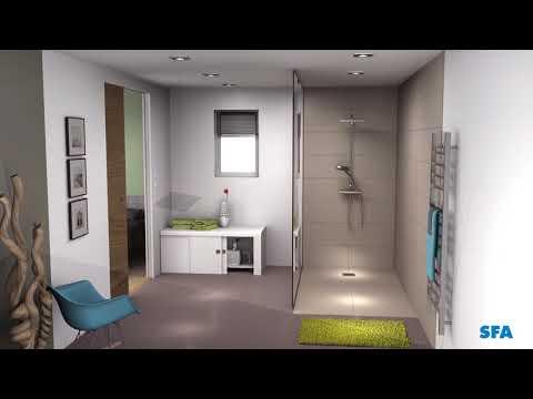 SANIFLOOR: a walk in shower anywhere!