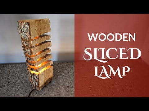 Wooden Sliced Lamp (English Subtitles)