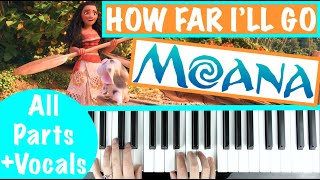 "How to play ""HOW FAR I'LL GO"" - Moana (Auli'i Cravalho) 