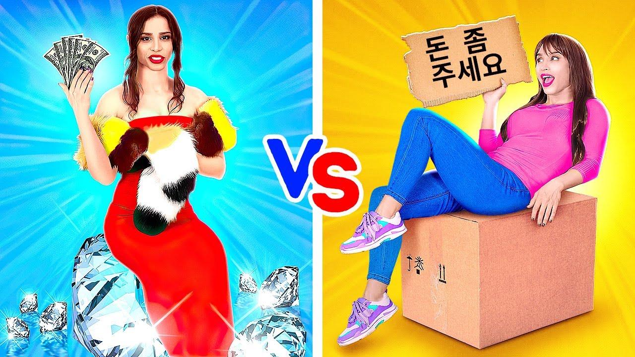 교실에서의 금수저 vs 흙수저    123 GO! GOLD Korean의 재미있는 학교 상황