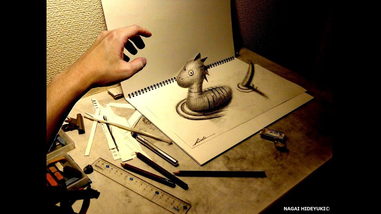 3d Drawing - Draw Art Nessie