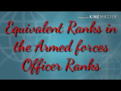 Equivalent Ranks in the Armed Forces Officer Ranks | Exam Question