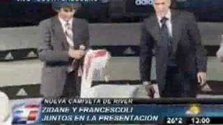 Zidane en presentacion de nueva camiseta de River Plate