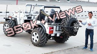 MODIFIED JEEPS...5 MONSTER TYRE JEEP...JAIN MOTORS 8199061161