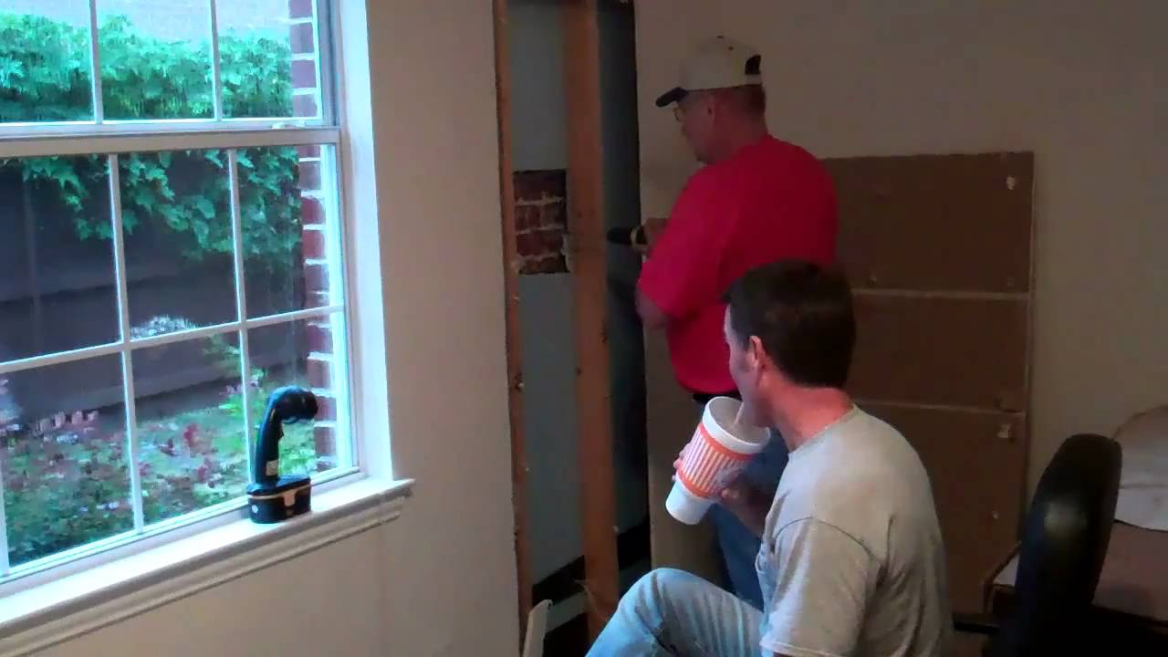 How To Add A Door In An Exterior Brick Wall Part 1 Of 2 Benoah Renovations Video You